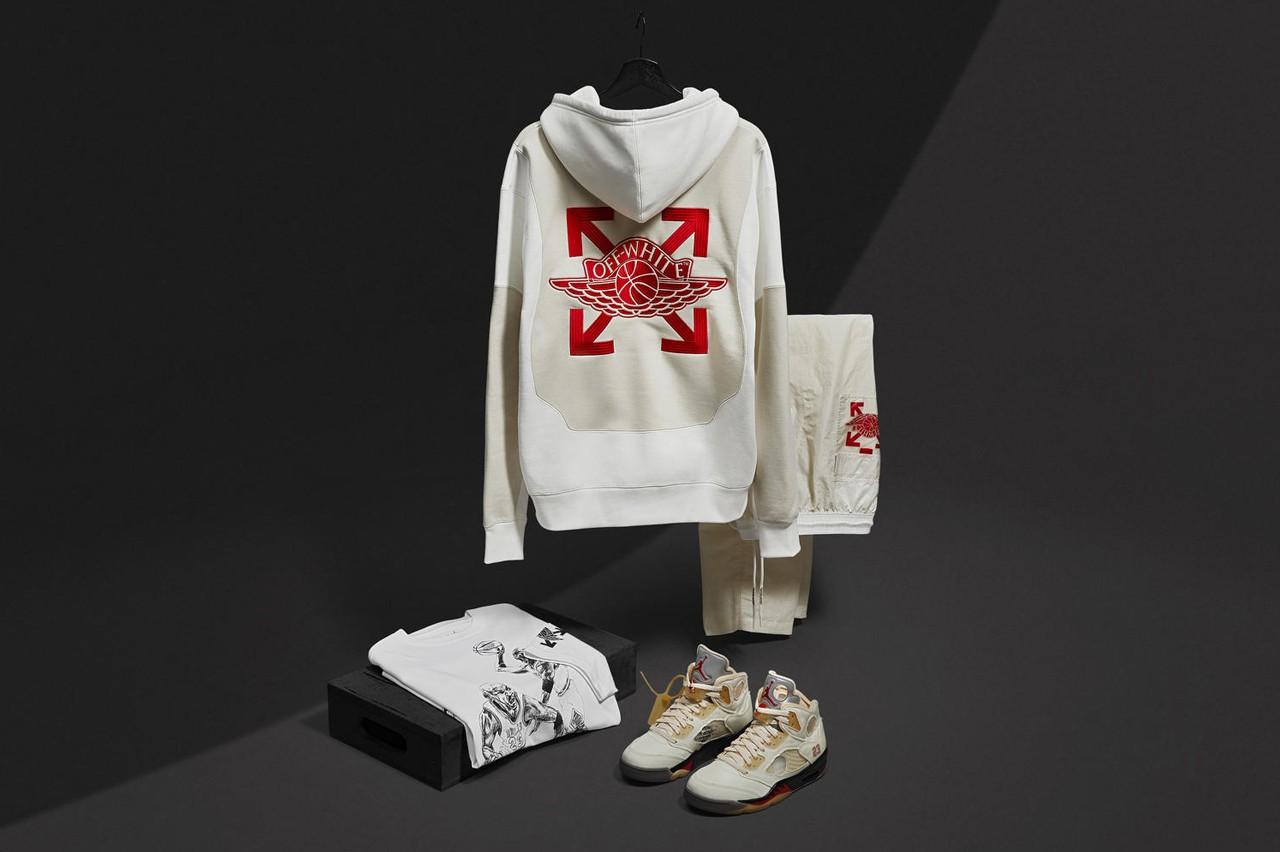 Off-White™ x Jordan Brand 联名 Air Jordan 5 及服装全系列正式发布