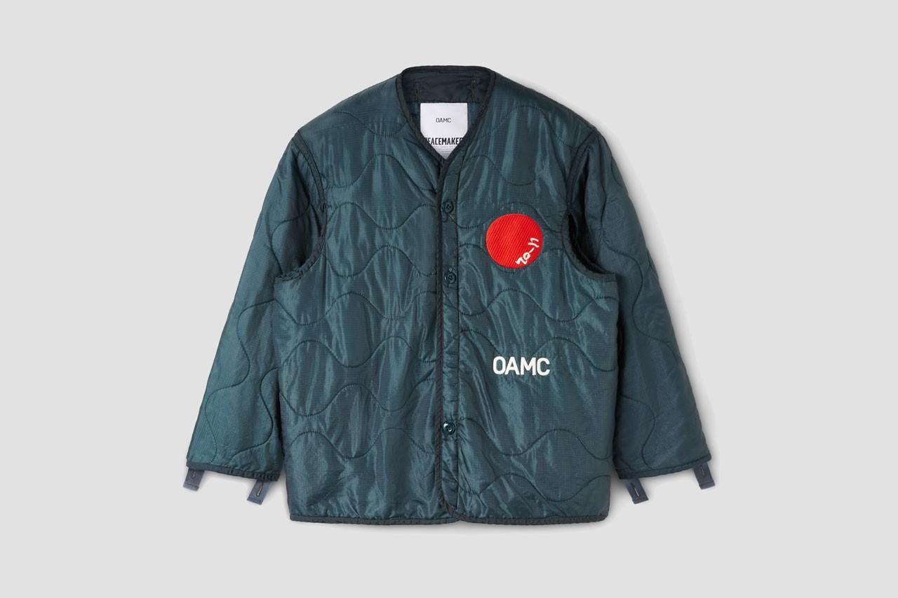 OAMC最新「DOT Peacemaker Liner」夹克即将登场