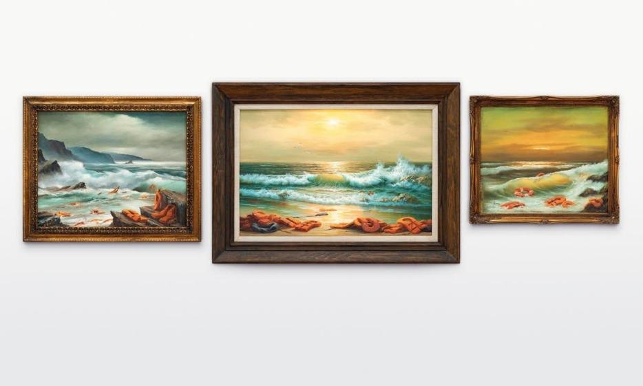 Banksy 难民主题画作《地中海景观 2017》以 220 万英镑拍卖成交