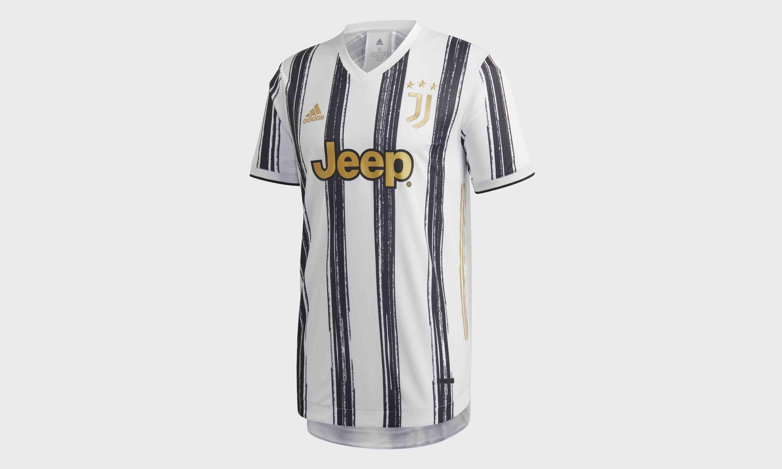 当代艺术演绎经典条纹,adidas 发布尤文图斯 20/21 赛季新主场球衣