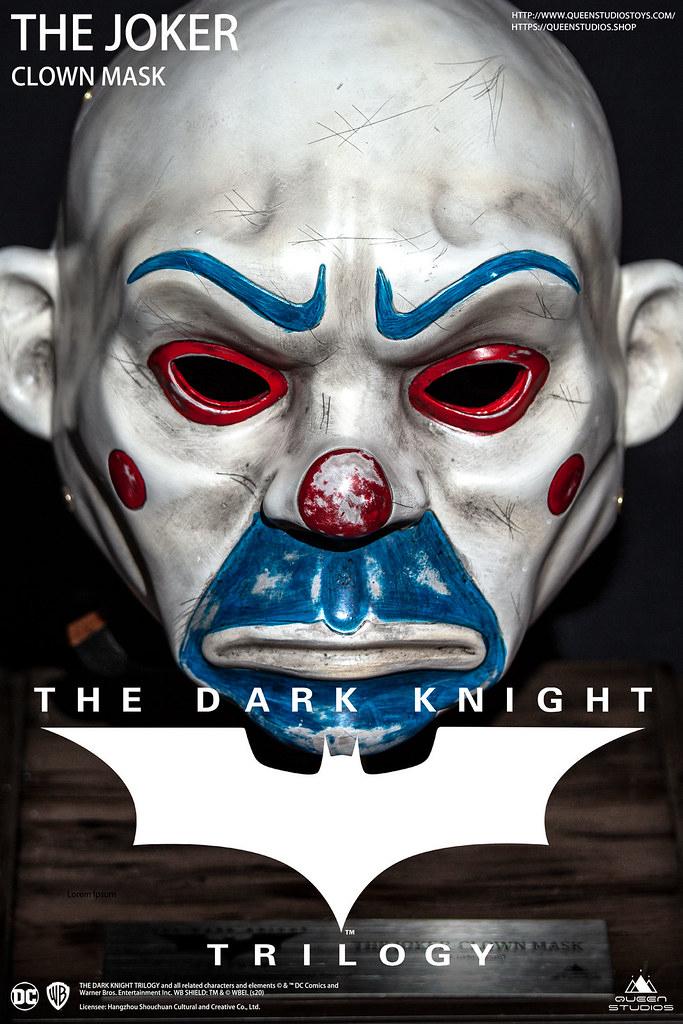 Queen Studios 发布《黑暗骑士》等比例可穿戴小丑面具