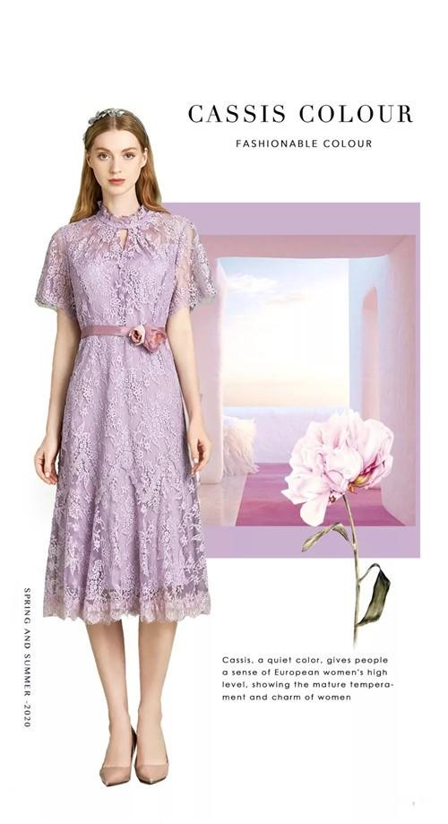 OMNIALUO欧柏兰奴女装2020春季流行色灰紫红
