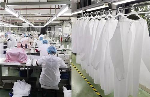影儿集团生产隔离服支援疫情防控工作