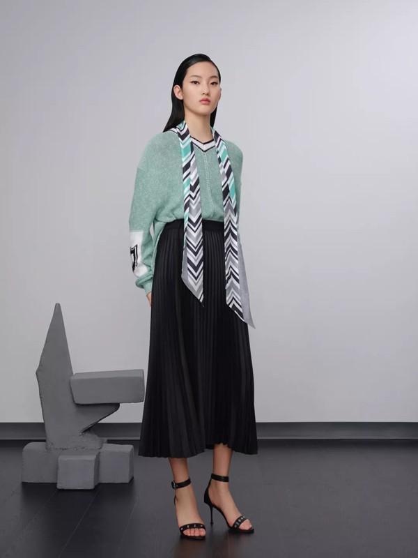 H·GENTEEL荷高女装2020春季新款清水绿单品搭配