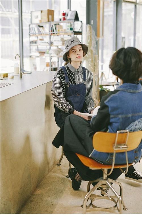GMXY古木夕羊女装2020春夏新款经典蓝系列