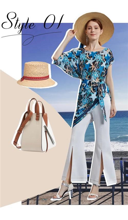life-idea莱芙艾迪儿女装2020夏季新款搭配:海岸、阳光、夏加尔