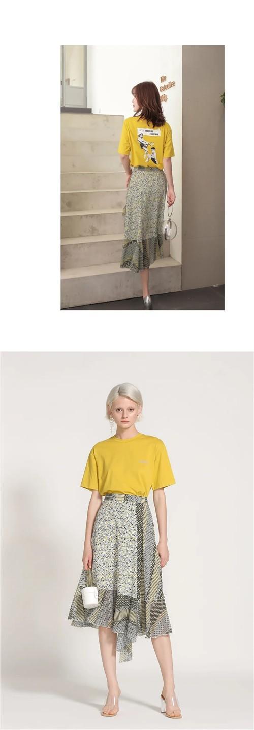 AITU艾托奥女装2020夏季简单T恤,开启时髦夏日之旅