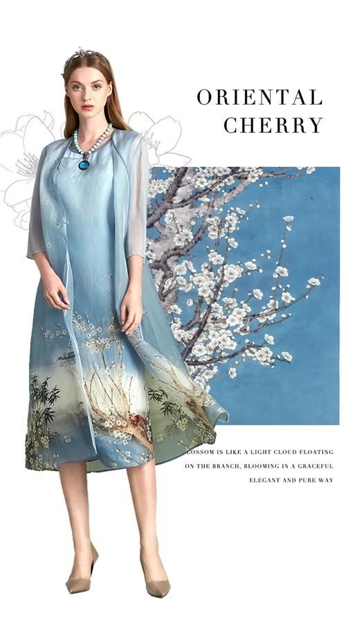 OMNIALUO欧柏兰奴女装2020夏季国风新品 | 山樱觅夏