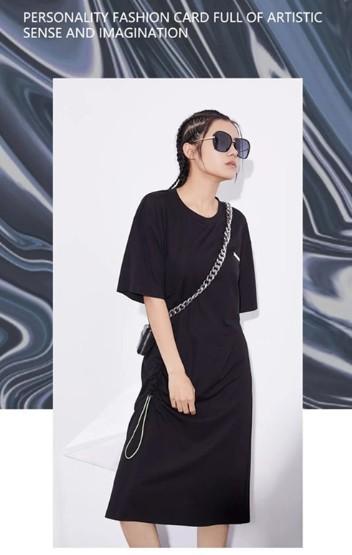 BEINI琲妮女装2020夏季黑色搭配:夏日出街扮酷必备