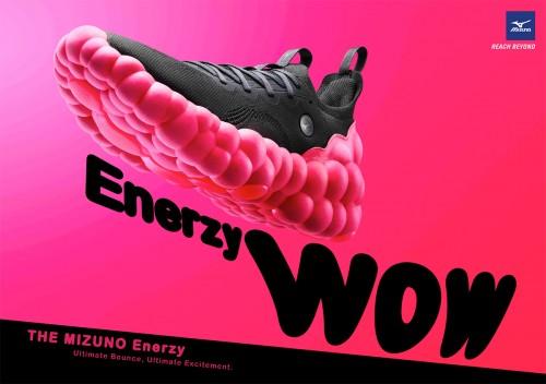 """美津浓高回弹鞋底材料""""MIZUNO ENERZY"""""""