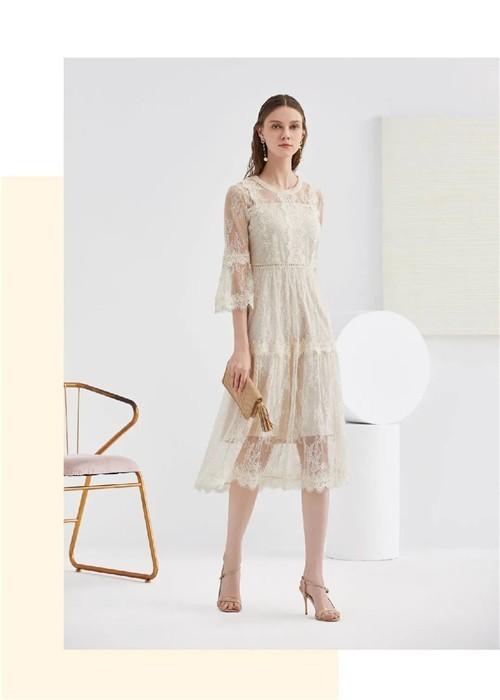 杜乐丽花园 YOUXIZI尤西子女装2020夏季新款艺术感连衣裙